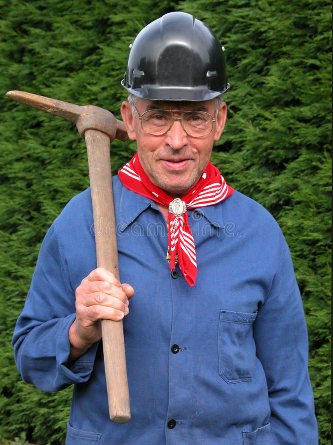 Trabalhador de mina de carvão fotos de stock royalty free