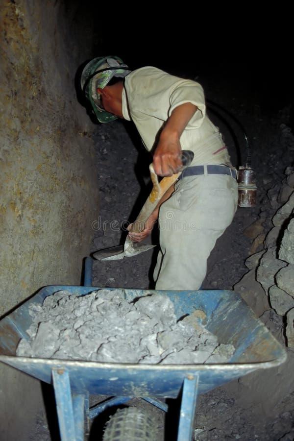 Trabalhador de mina de prata imagem de stock