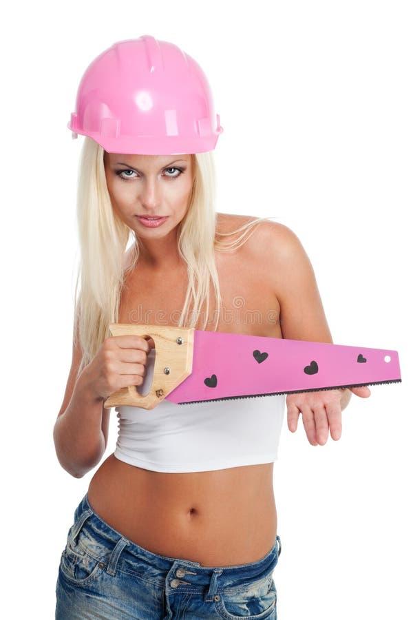 Trabalhador de mulher glamoroso atrativo imagem de stock royalty free
