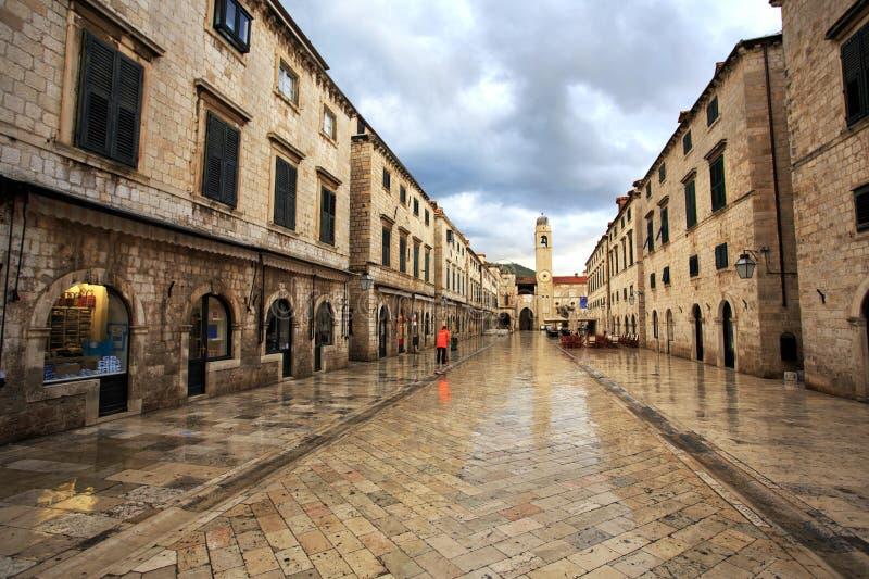 Trabalhador do alvorecer - Dubrovnik fotos de stock