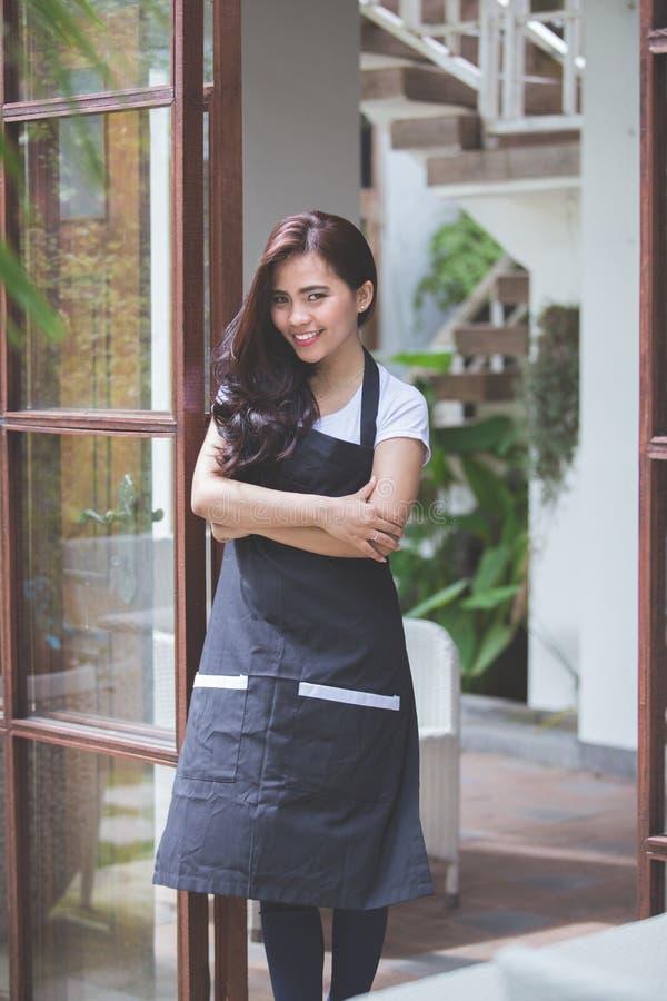 Trabalhador do café imagem de stock royalty free
