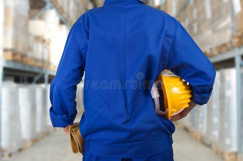 Trabalhador do colarinho azul. fotos de stock royalty free