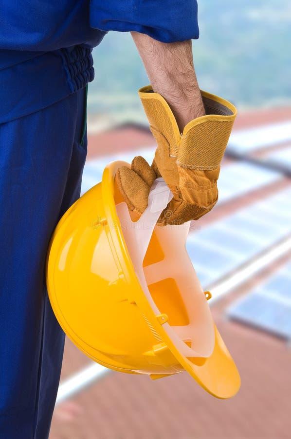 Trabalhador do colarinho azul. fotografia de stock