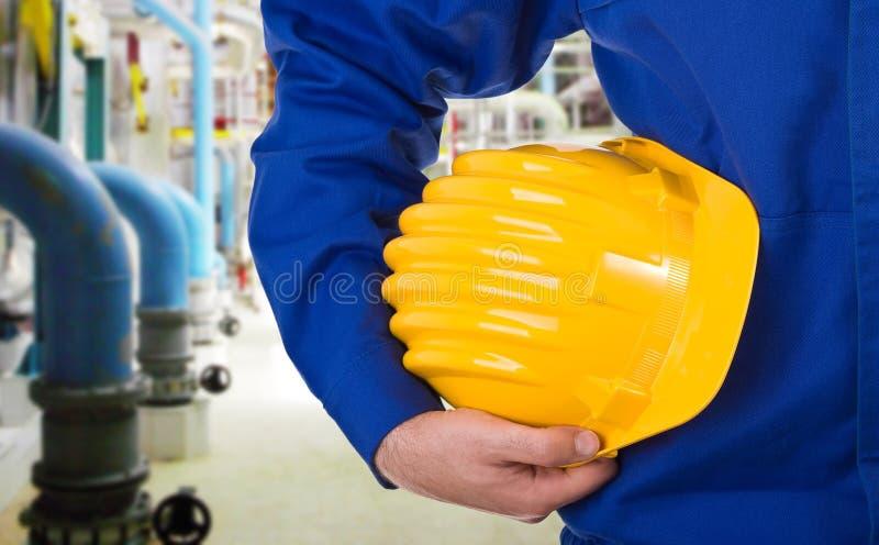 Trabalhador do colarinho azul. fotografia de stock royalty free