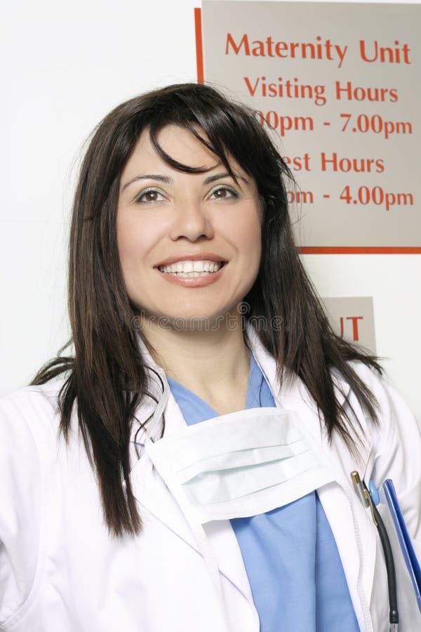Trabalhador do hospital na divisão de maternidade foto de stock royalty free
