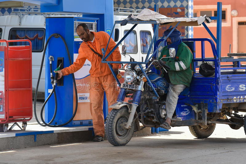 Trabalhador do posto de gasolina, Marrocos