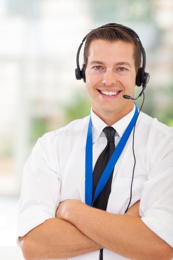 Trabalhador do serviço ao cliente imagens de stock