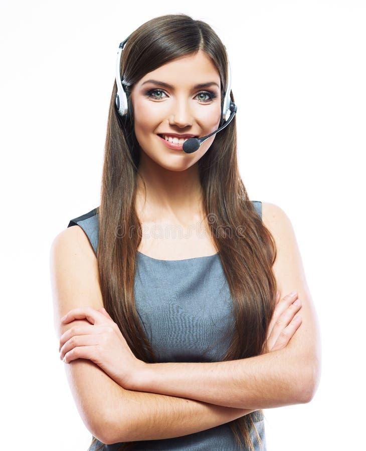 Trabalhador do serviço ao cliente da mulher imagens de stock royalty free