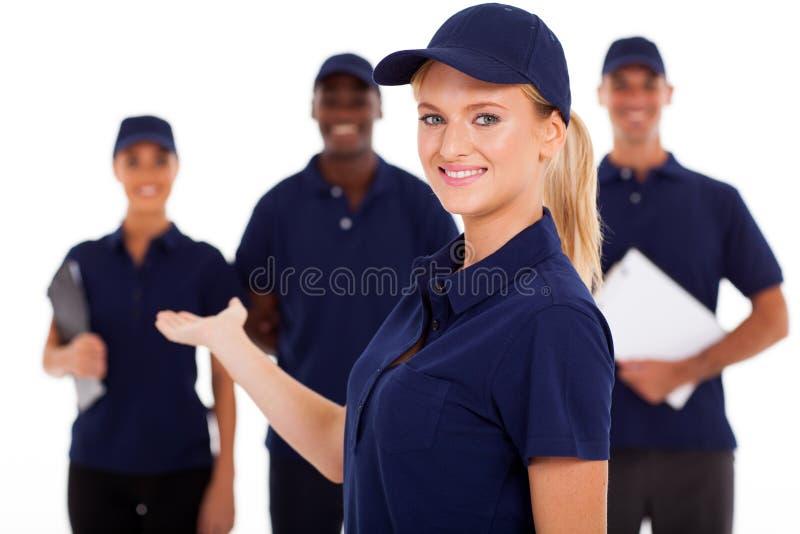 Trabalhador do serviço técnico imagem de stock