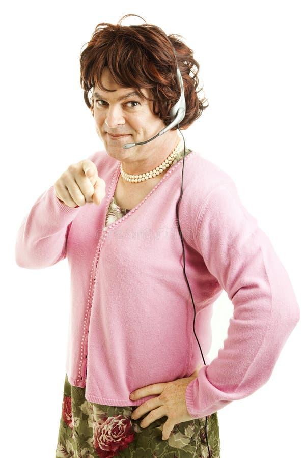 Trabalhador do telefone do travesti fotos de stock royalty free