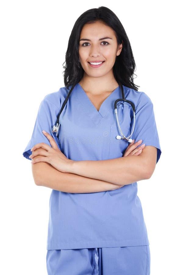 Trabalhador fêmea dos cuidados médicos imagem de stock