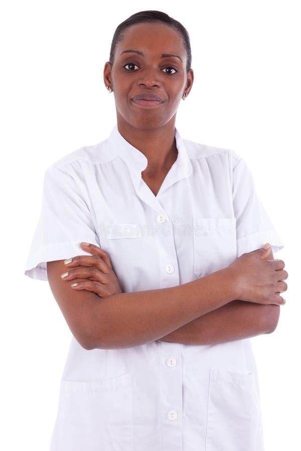 Trabalhador fêmea dos cuidados médicos do americano africano fotografia de stock royalty free