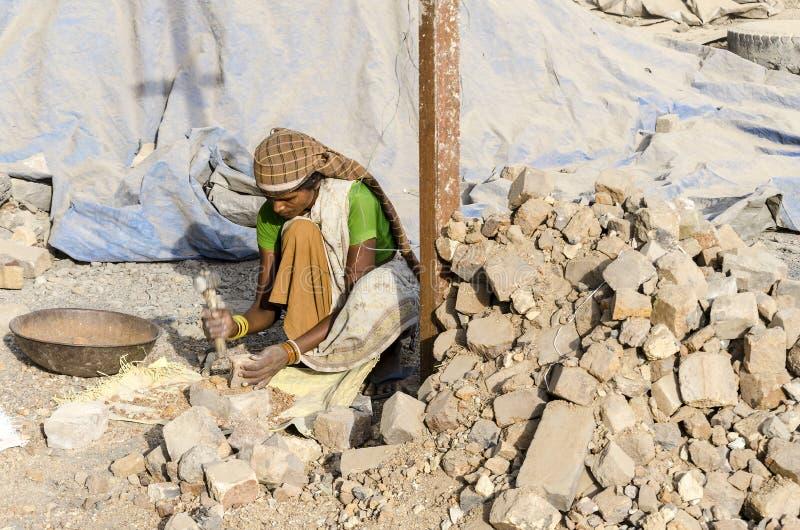 Trabalhador fêmea indiano foto de stock royalty free