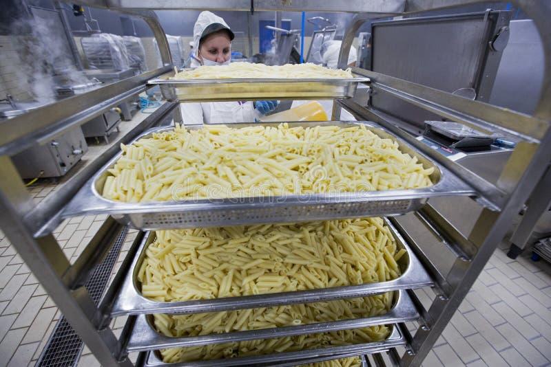 Trabalhador industrial 019 da cozinha imagem de stock royalty free