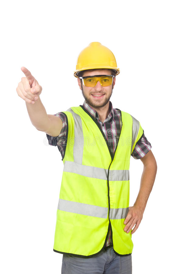 Trabalhador industrial isolado imagens de stock