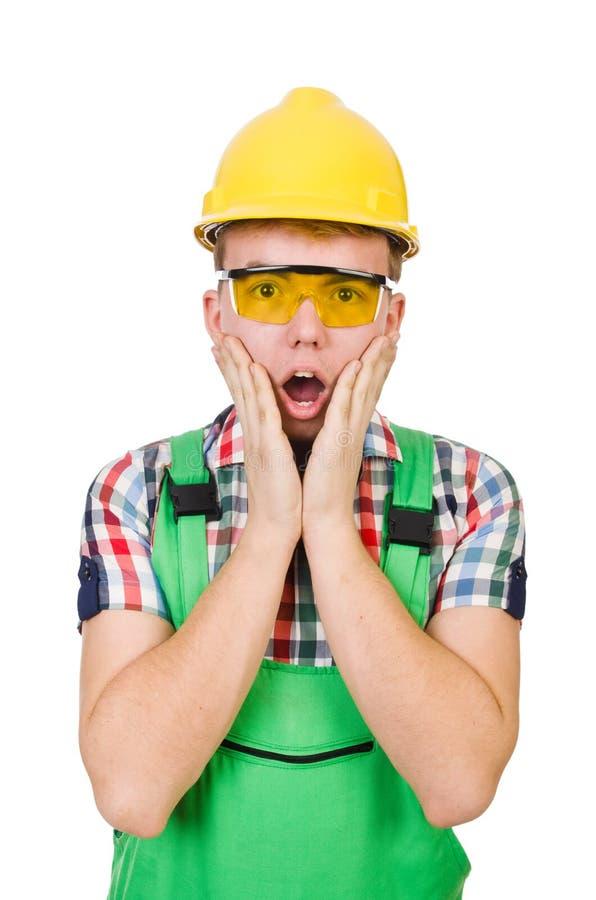 Trabalhador industrial isolado fotografia de stock royalty free