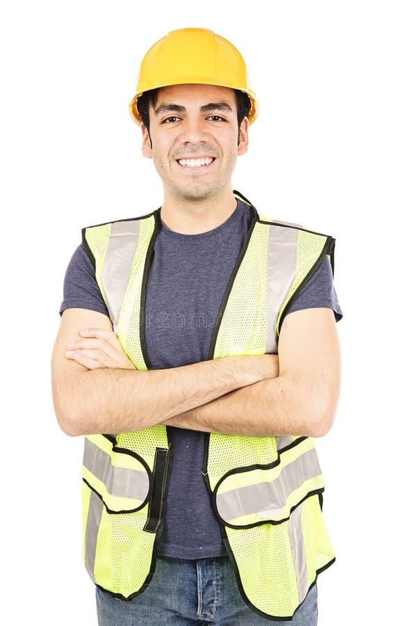 Trabalhador latino-americano do costruction fotografia de stock