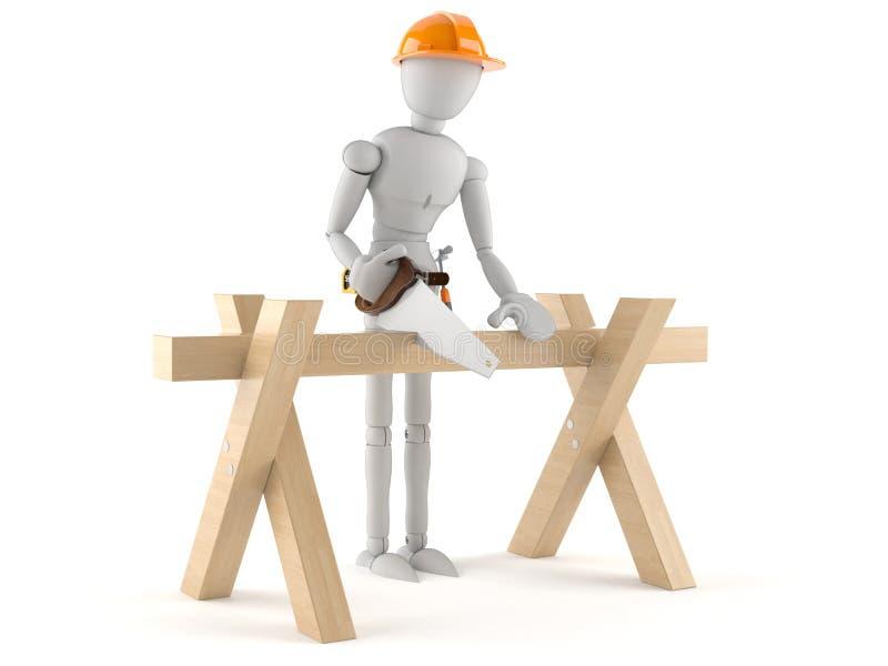 Trabalhador manual ilustração stock