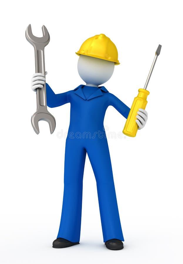 Trabalhador manual. ilustração royalty free