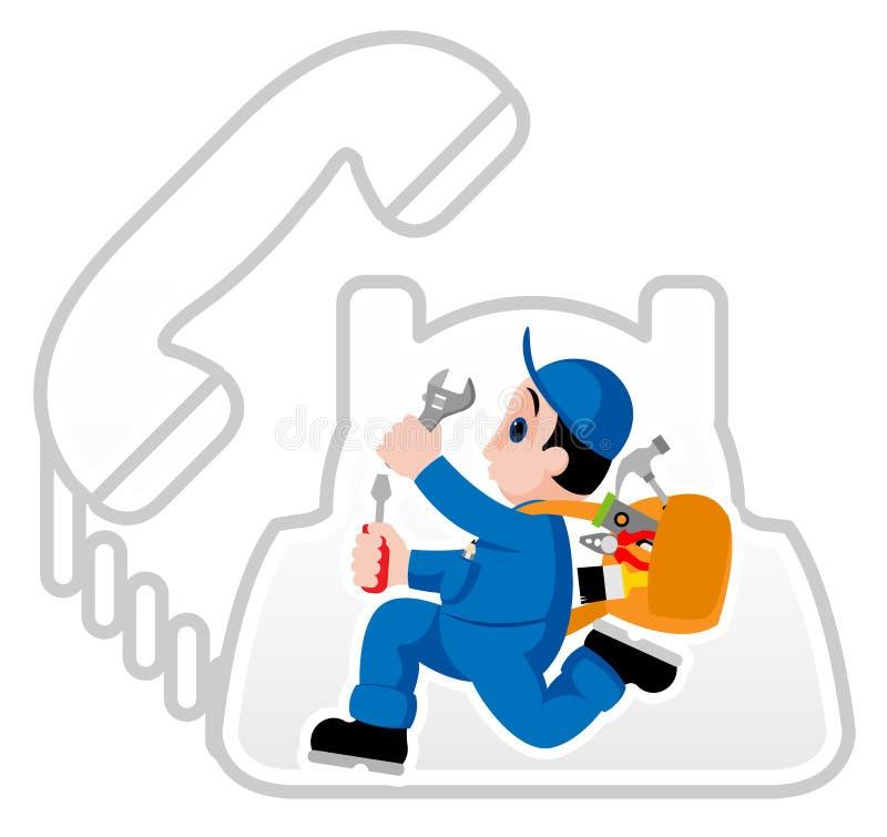 Trabalhador manual ilustração do vetor