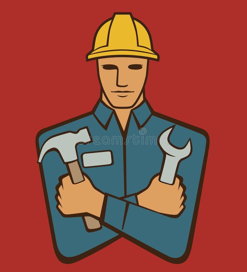 Trabalhador manual ilustração royalty free