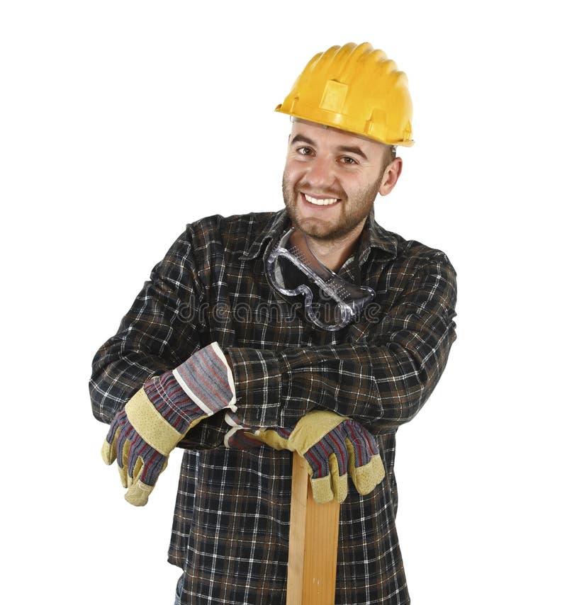 Trabalhador manual confiável amigável fotografia de stock