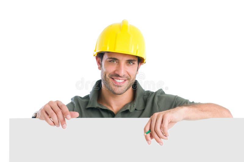 Trabalhador manual de sorriso fotos de stock