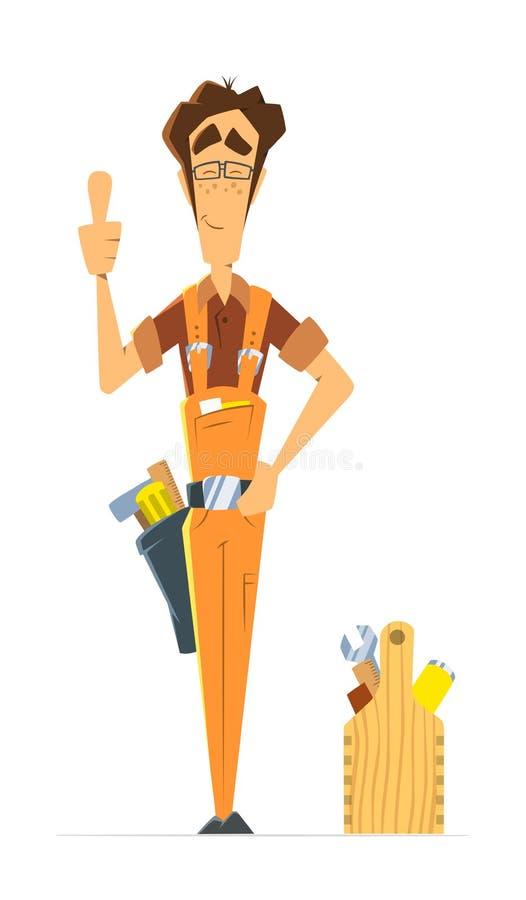 Trabalhador manual do serralheiro do reparador do homem ou recruta do trabalhador ilustração stock