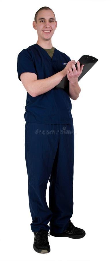 Trabalhador masculino dos cuidados médicos imagem de stock