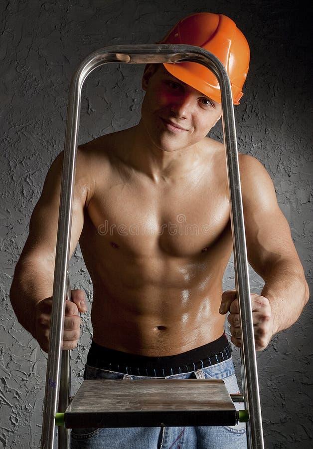 Trabalhador muscular fotos de stock royalty free