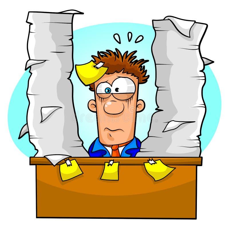 Trabalhador oprimido ilustração do vetor