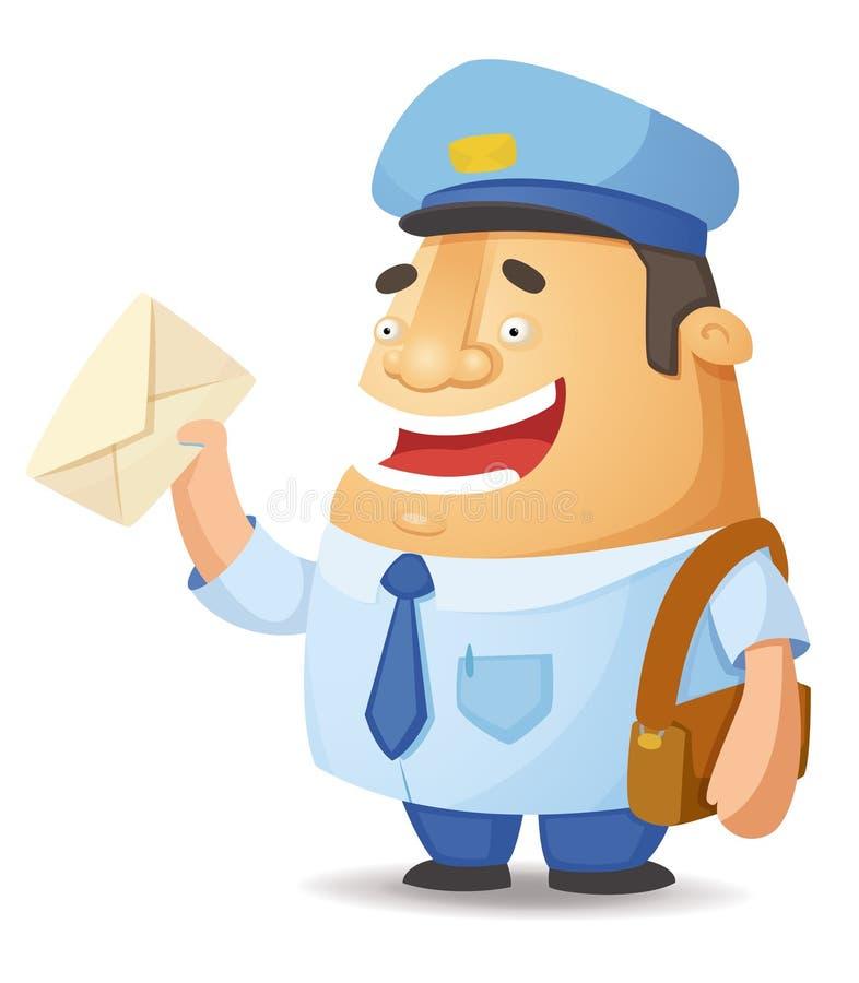Trabalhador postal ilustração stock