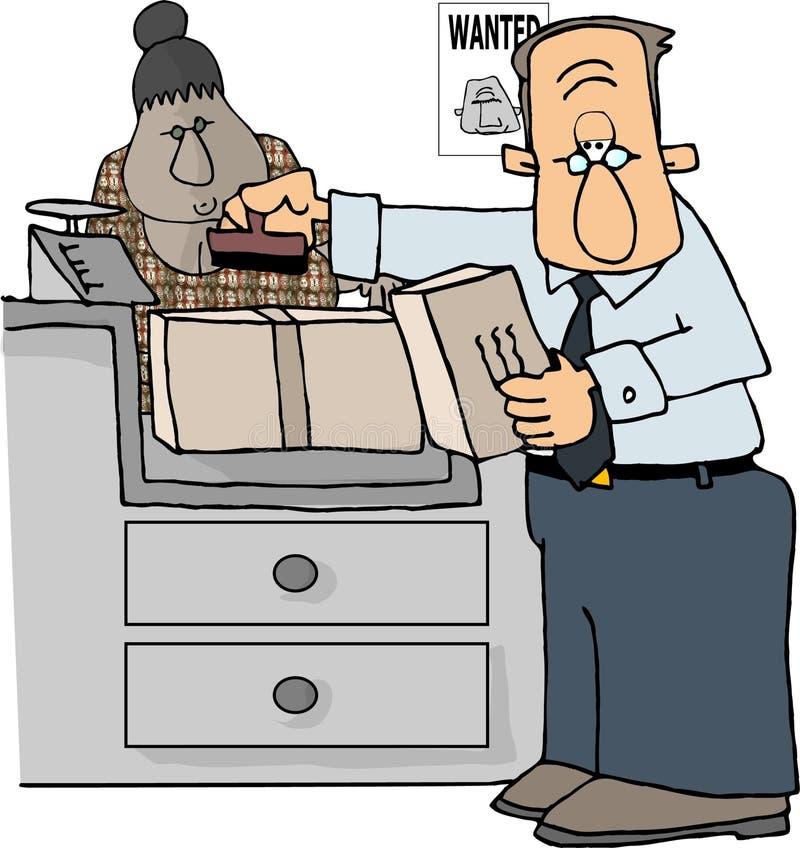 Trabalhador postal ilustração royalty free