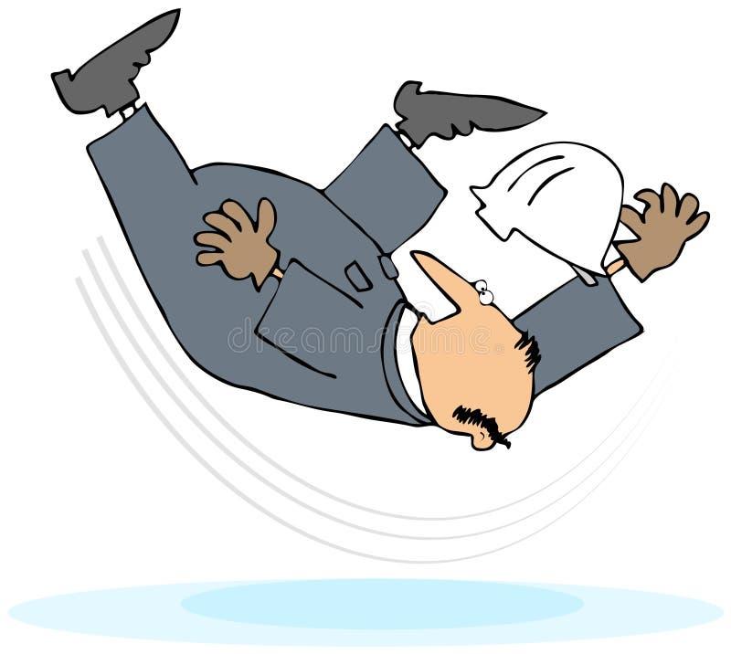 Trabalhador que toma um enxerto e uma queda ilustração royalty free