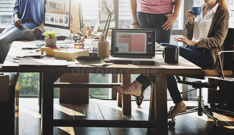 Trabalhador Team Business Corporate Coworkers Concept imagem de stock