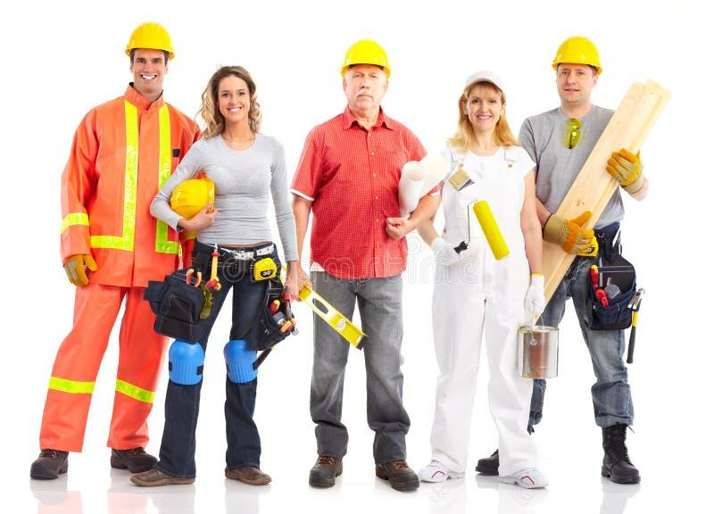 Trabalhadores foto de stock