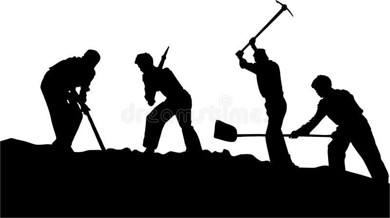 Trabalhadores ilustração stock
