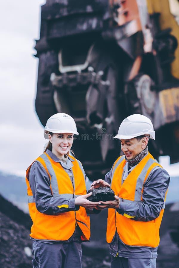 Trabalhadores carbonosos imagem de stock royalty free