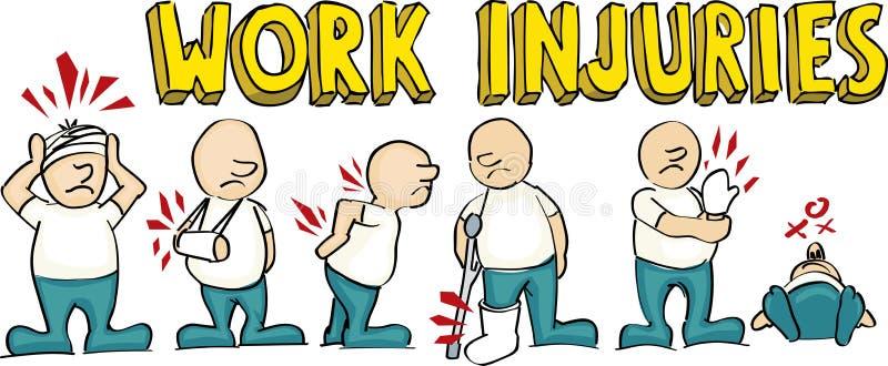 Trabalhadores contrários ilustração royalty free