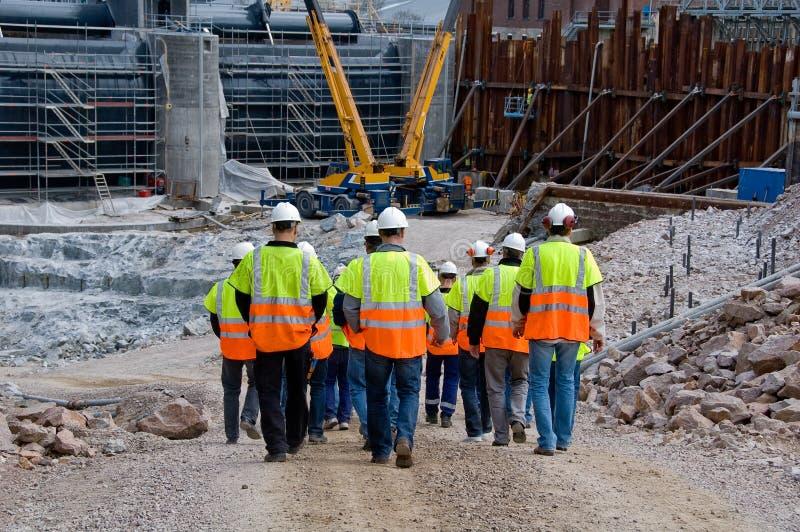 Trabalhadores da construção fotografia de stock royalty free