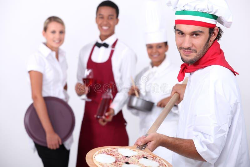 Trabalhadores da hospitalidade fotografia de stock royalty free