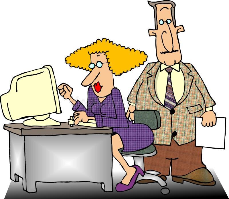 Trabalhadores de escritório ilustração do vetor