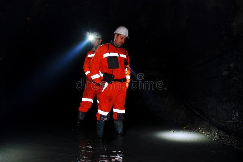 Trabalhadores de mina foto de stock royalty free
