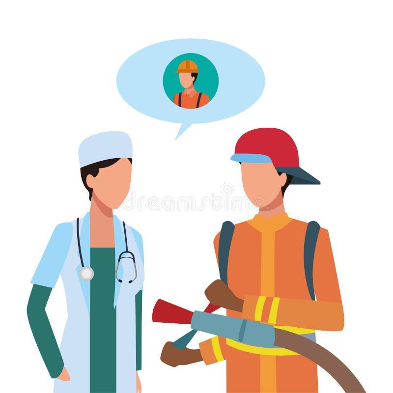 Trabalhadores dos trabalhos e das profissões ilustração stock