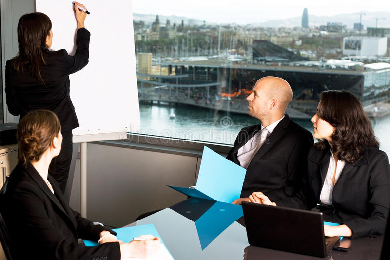 Trabalhadores em um seminário fotografia de stock royalty free