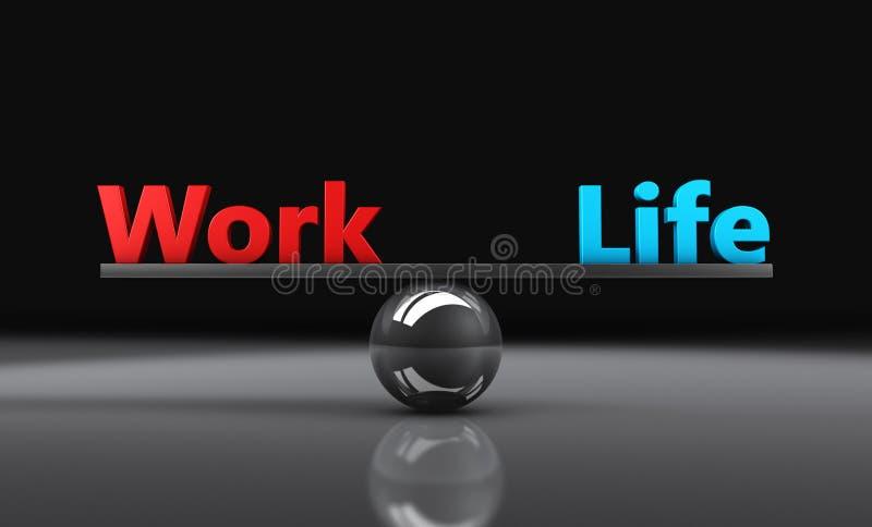 Trabalhe o balanço da vida ilustração royalty free