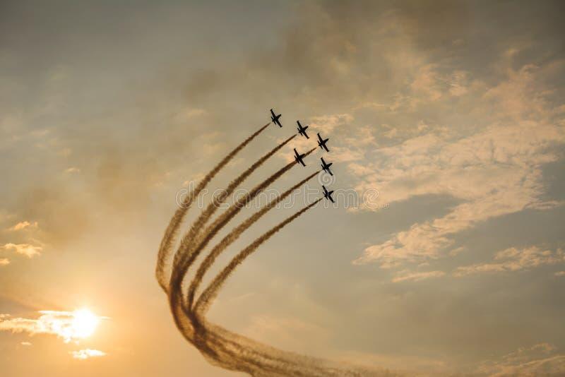 Trabalho aéreo da equipe fotos de stock royalty free