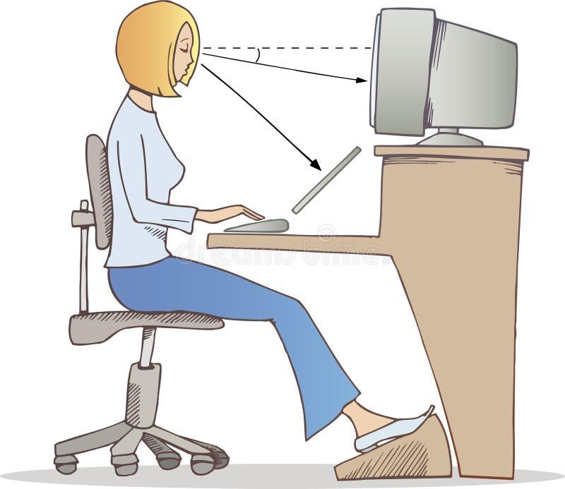 Trabalho apropriado no computador ilustração stock