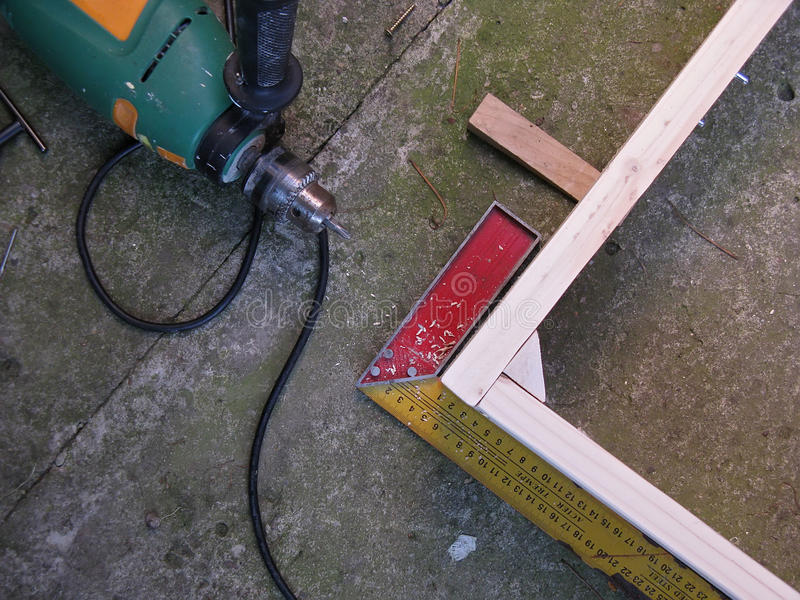 Trabalho da carpintaria imagens de stock