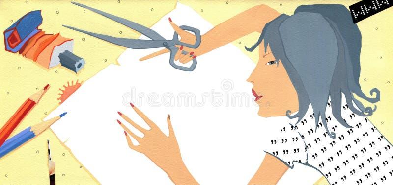 Trabalho da tração e do Aapplique ' ilustração do vetor